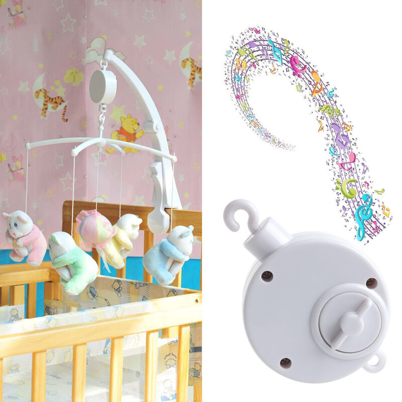 12 35 songs rotary baby mobile crib bed toy music box movement bell nursery hot ebay. Black Bedroom Furniture Sets. Home Design Ideas