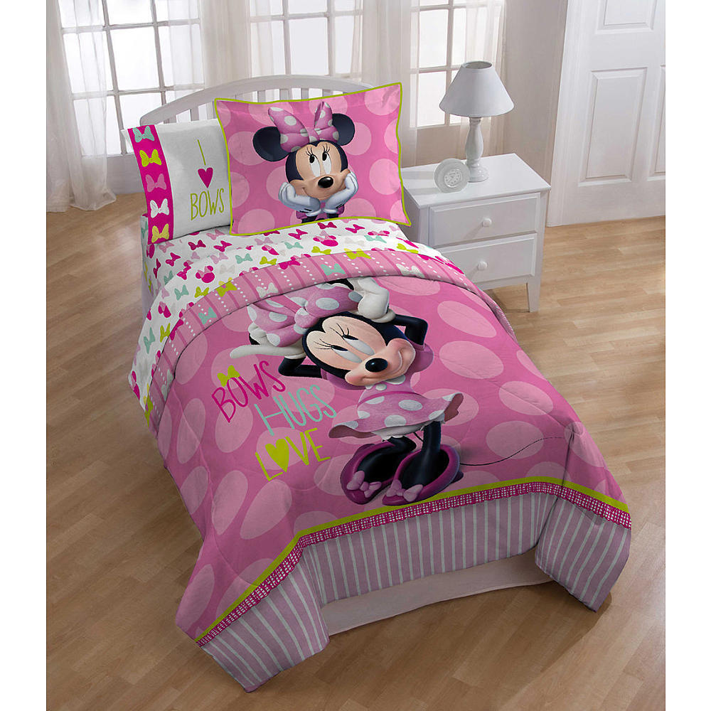 Disney Minnie Mouse Bowtique Twin Comforter Set Ebay