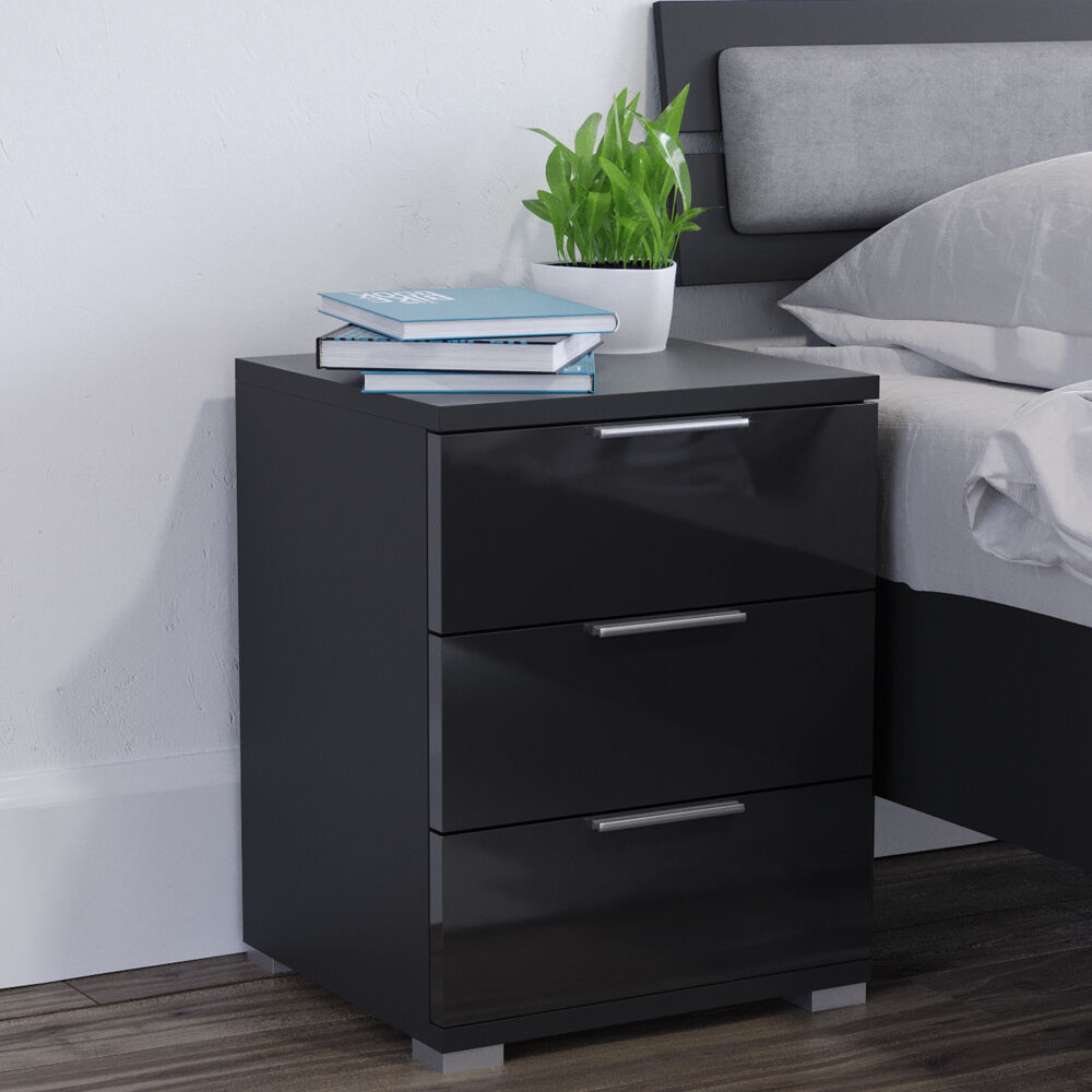 vicco nachtschrank kommode nachttisch schublade. Black Bedroom Furniture Sets. Home Design Ideas