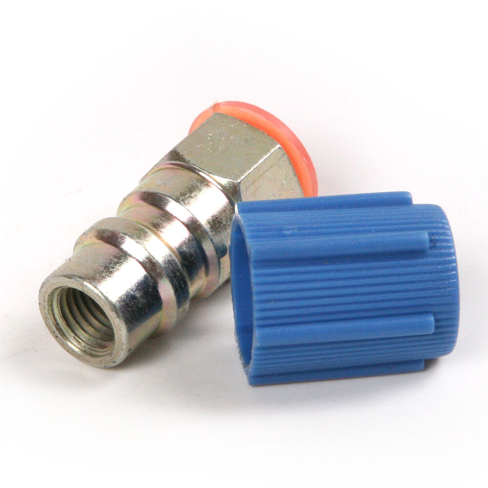 Low Pressure Quick Connect Fittings Coupler 20ph R12 To R134a Blue Conversion