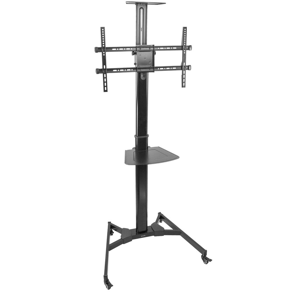 heavy duty universal tv cart for flat screen panel mobile stand fits 37 to 70 690000997983 ebay. Black Bedroom Furniture Sets. Home Design Ideas