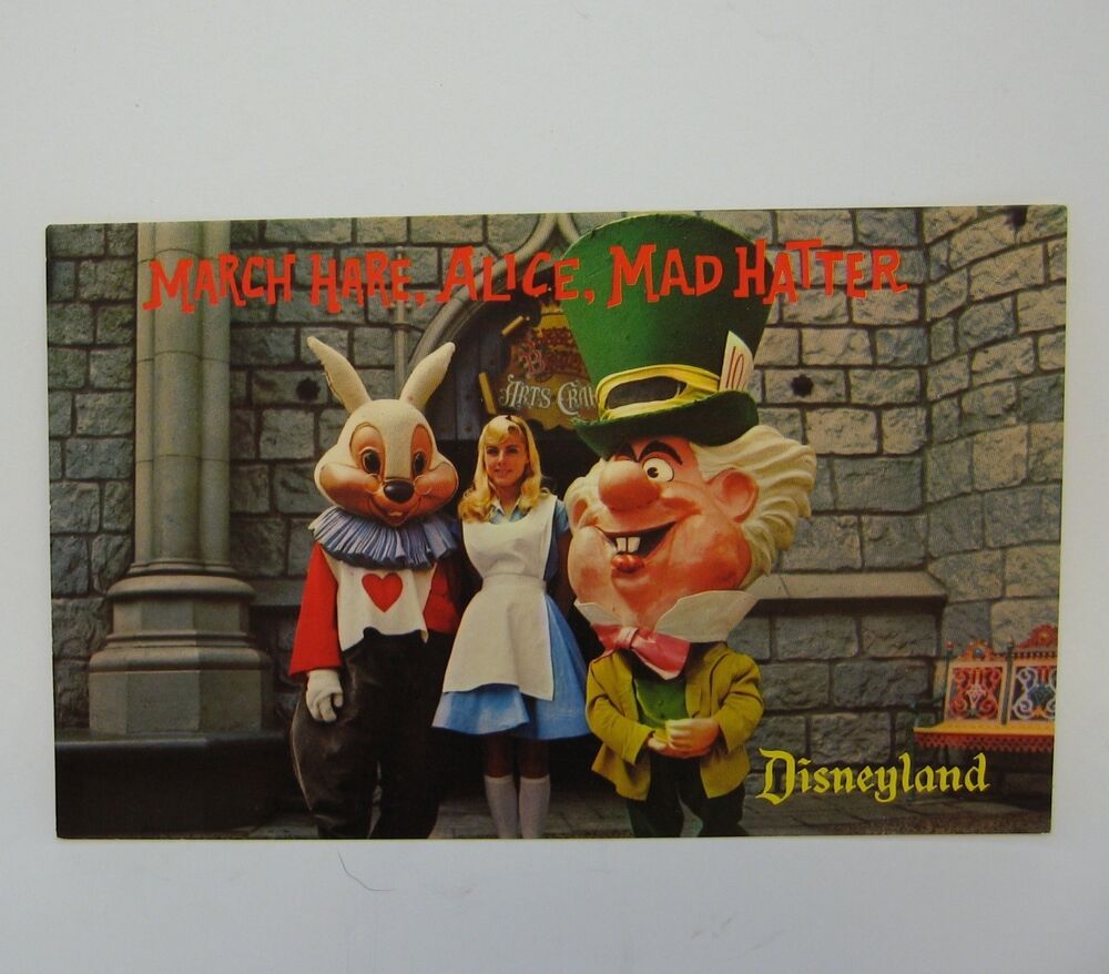 Disney March Hare: Alice In Wonderland March Hare Mad Hatter Postcard Disney
