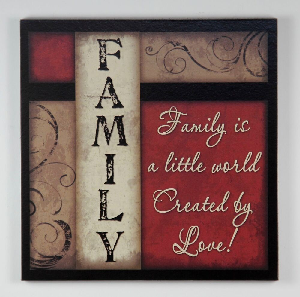 PRIMITIVE COUNTRY WOOD FAMILY SIGN HANDMADE INSPIRATIONAL