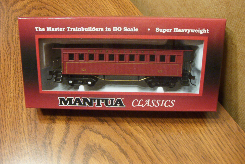 mantua classics 1860 coach wooden passenger car pennsylvania rr 428 ho scale ebay. Black Bedroom Furniture Sets. Home Design Ideas