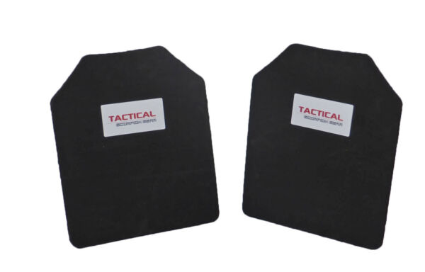 Tactical Scorpion Body Armor Plate Trauma Pads Backers Pair 10mm 10x12 For AR500