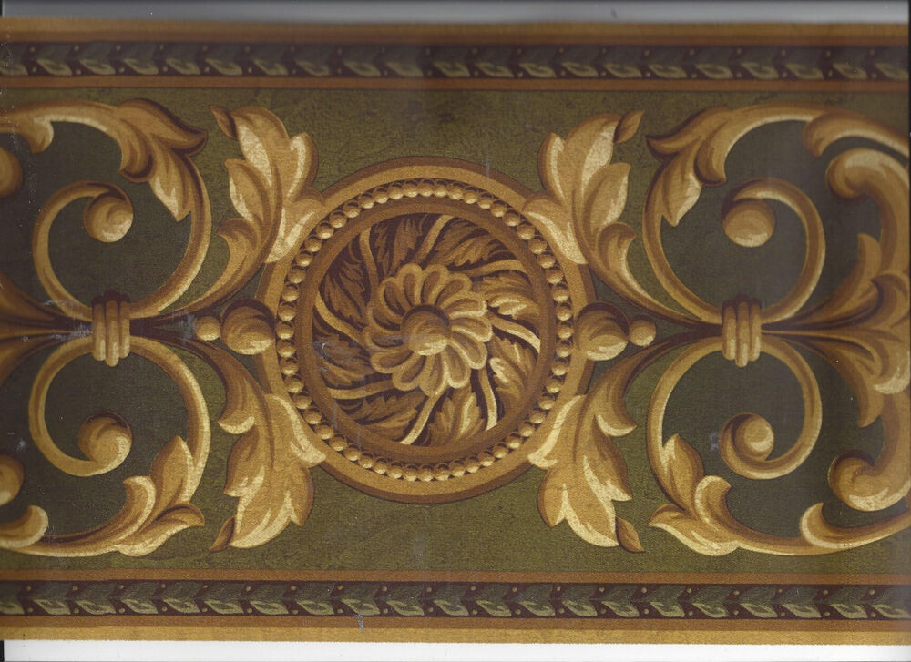 Victorian classic architecture moulding wallpaper border for Home wallpaper ebay