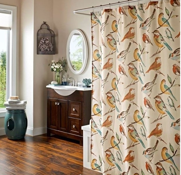 Bird Fabric Shower Curtain Ebay