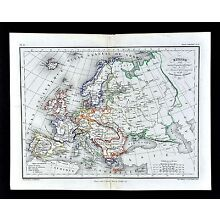 1865 Meissas & Michelot Map - Europe France Britain Spain Austria Germany Italy
