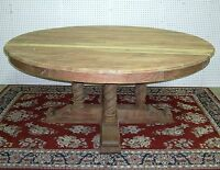 "72"" Round Solid Hardwood Dining Table Antique Style Country French"