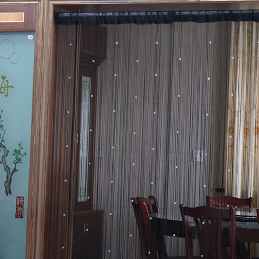Fringe Crystal Beads String Curtain Tassel Door Window