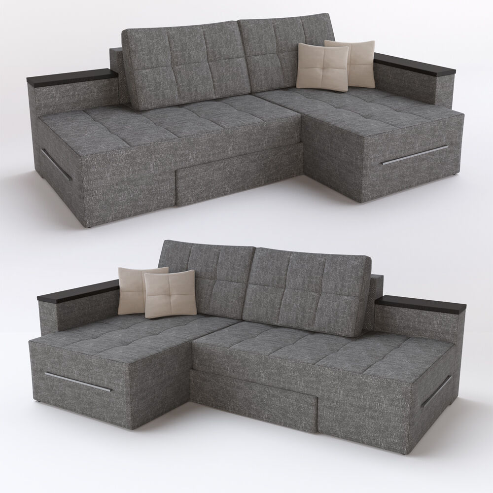 ecksofa mit schlaffunktion 240 x 160 cm grau sofa couch eckcouch schlafcouch ebay. Black Bedroom Furniture Sets. Home Design Ideas