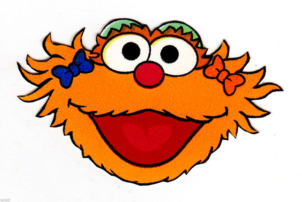 cut out character template - 6 sesame street zoe wall safe sticker border cut out