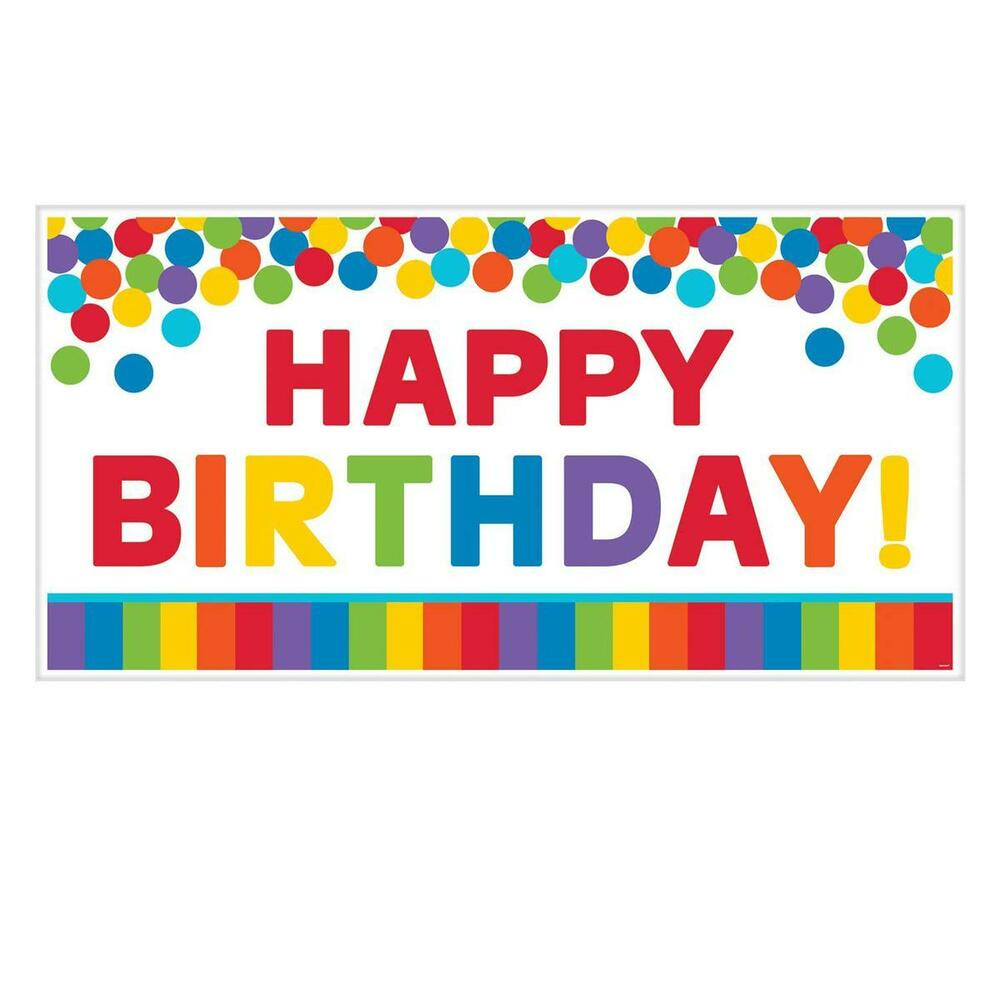Giant 5ft Happy Birthday Banner Scene Setter Party Wall