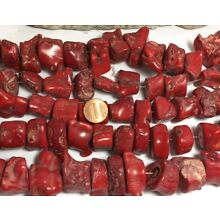 1/2 lbs predrilled rustic red sea coral nuggets /15mm-35mm diameter(T771-w8)
