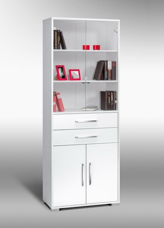 schrank aktenschrank mehrzweckschrank b roschrank mod mj430 icy wei hochglanz ebay. Black Bedroom Furniture Sets. Home Design Ideas