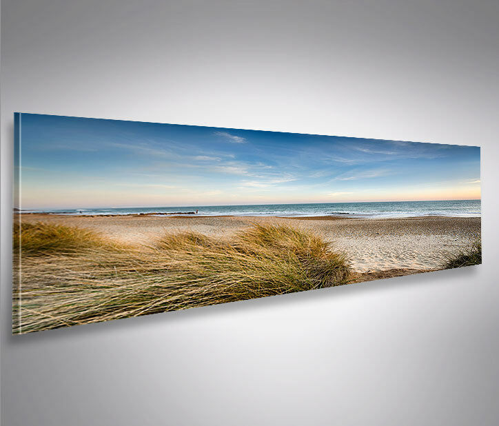 bild auf leinwand strand v2 nordseestrand nordsee ostsee d nen panorama wandbild ebay. Black Bedroom Furniture Sets. Home Design Ideas