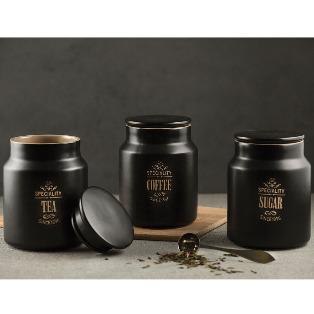 Speciality Tea Coffee Sugar Storage Jars Kitchen Canisters Containers Pots Set Ebay