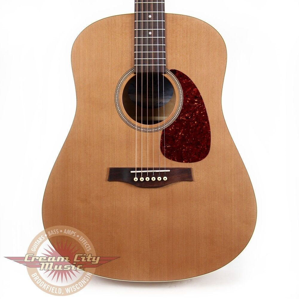 brand new seagull s6 slim acoustic guitar cedar top wild cherry with case ebay. Black Bedroom Furniture Sets. Home Design Ideas