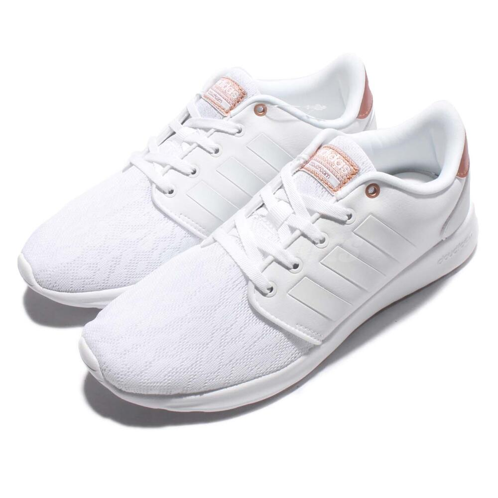 adidas cloudfoam qt racer w white rose gold women running. Black Bedroom Furniture Sets. Home Design Ideas