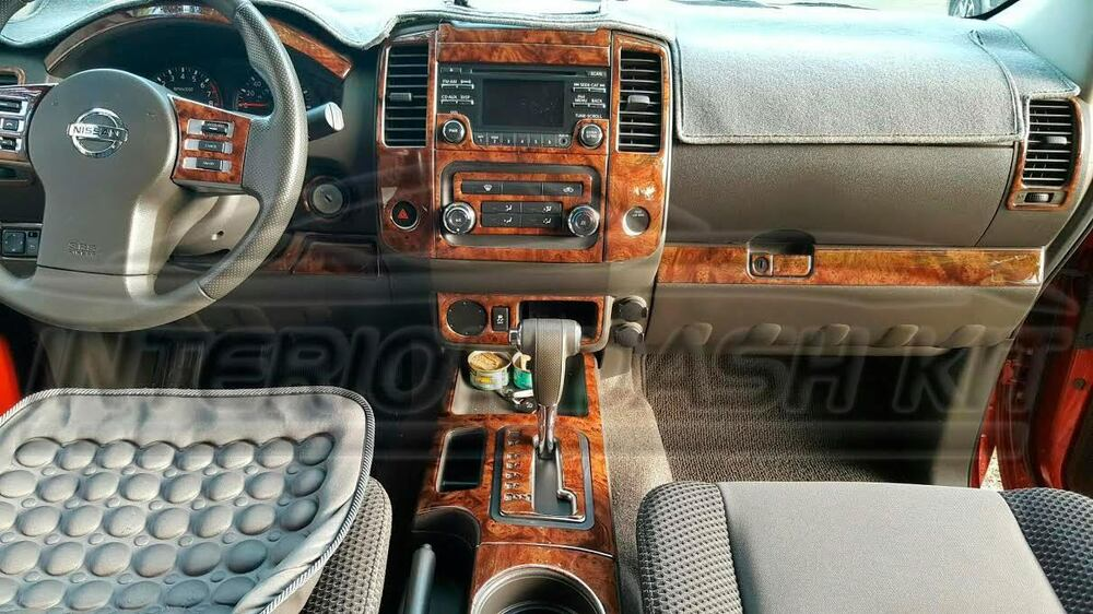2013 2014 2015 2016 Interior Wood Dash Trim Kit For Nissan