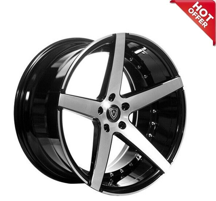 """20"""" MQ 3226 WHEELS BLACK MACHINED FACE STAGGERED RIMS"""