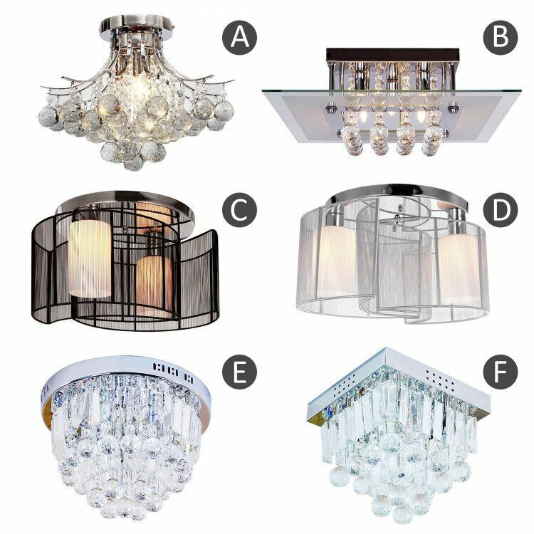 crystal chandelier ceiling mount pendant light lamp modern f