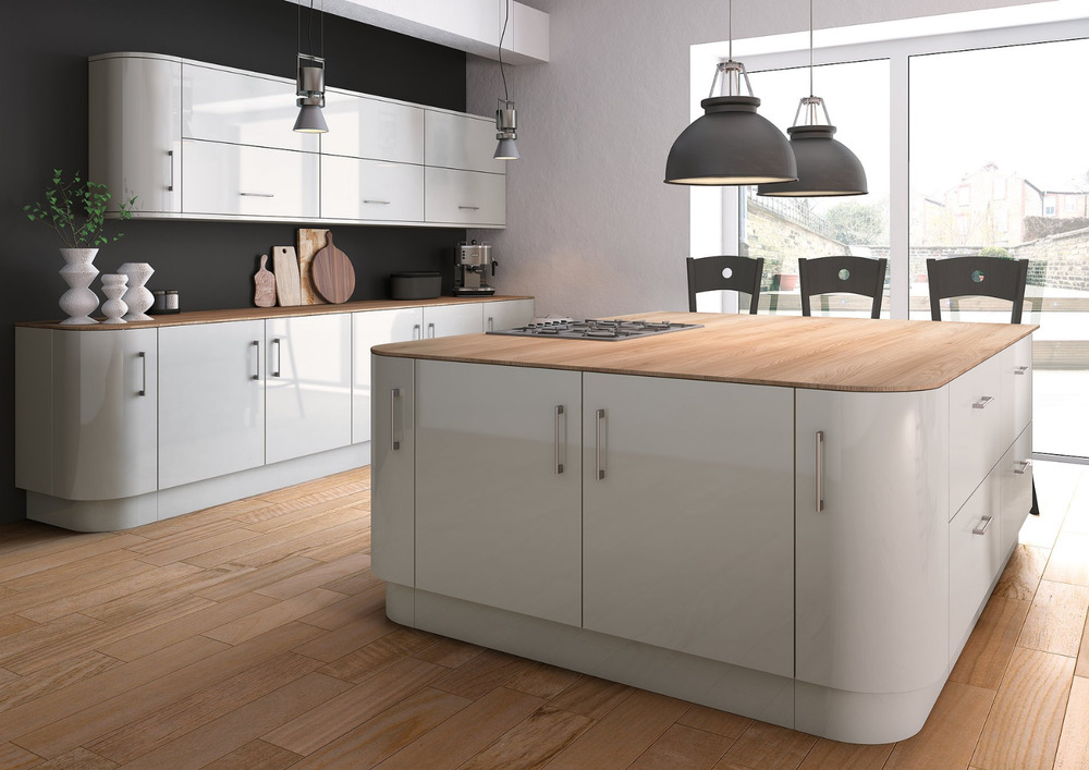 new high gloss vivo light grey kitchen doors and drawer fronts