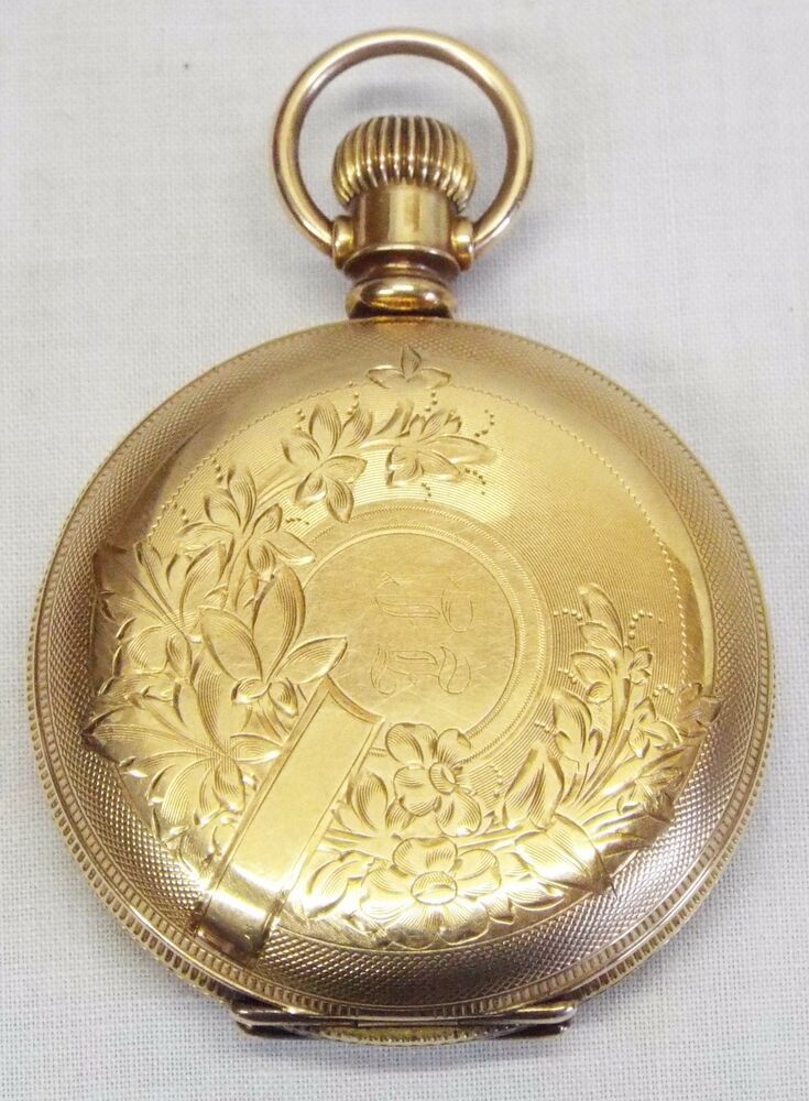antique illinois 14k gold plated dueber