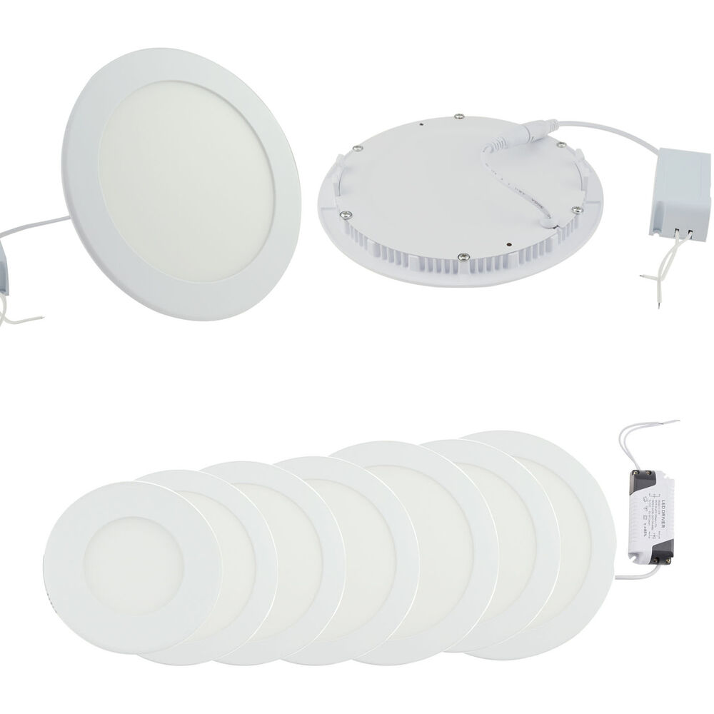 6w 12w 18w 24w Led Recessed Ceiling Flat Panel Down Light: 4PCS Dimmable Epistar Recessed LED Panel Light 6W 9W 12W