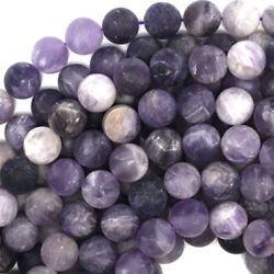 Kyпить Matte Purple Amethyst Round Beads Gemstone 15.5