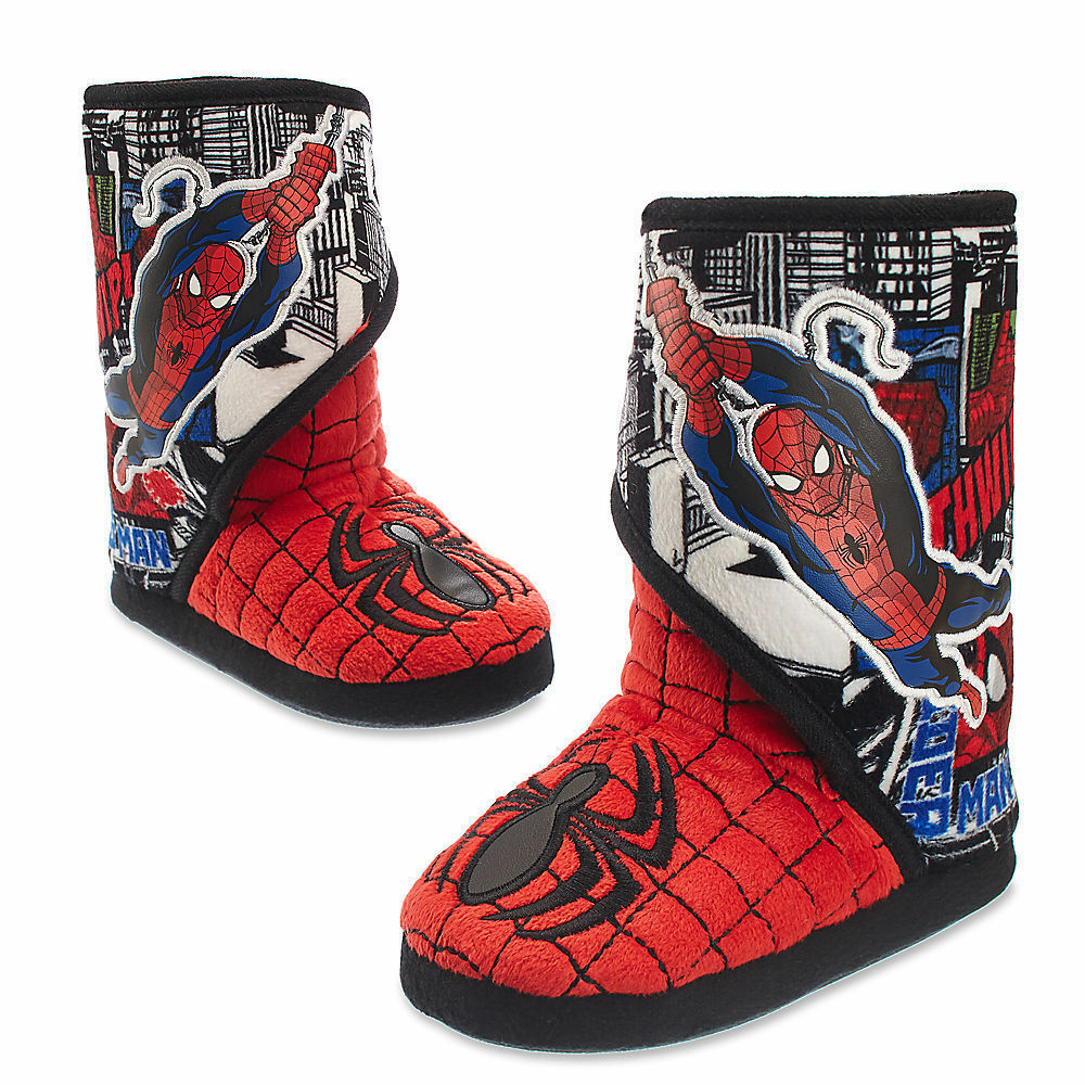 fc62985d6 Details about Disney Store Marvel Spider-Man Slippers Shoes Boy Size 11 12