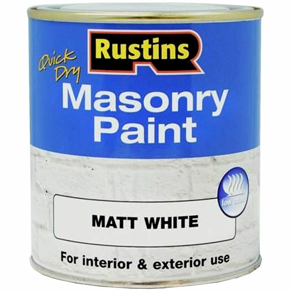 Rustins 250ml masonry paint white matt quick drying interior and exterior use ebay - Exterior wood paint matt pict ...