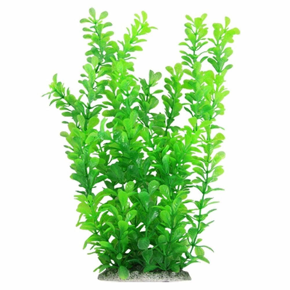 Aquarium Decor Fish Tank Decoration Ornament Plastic Plant ...