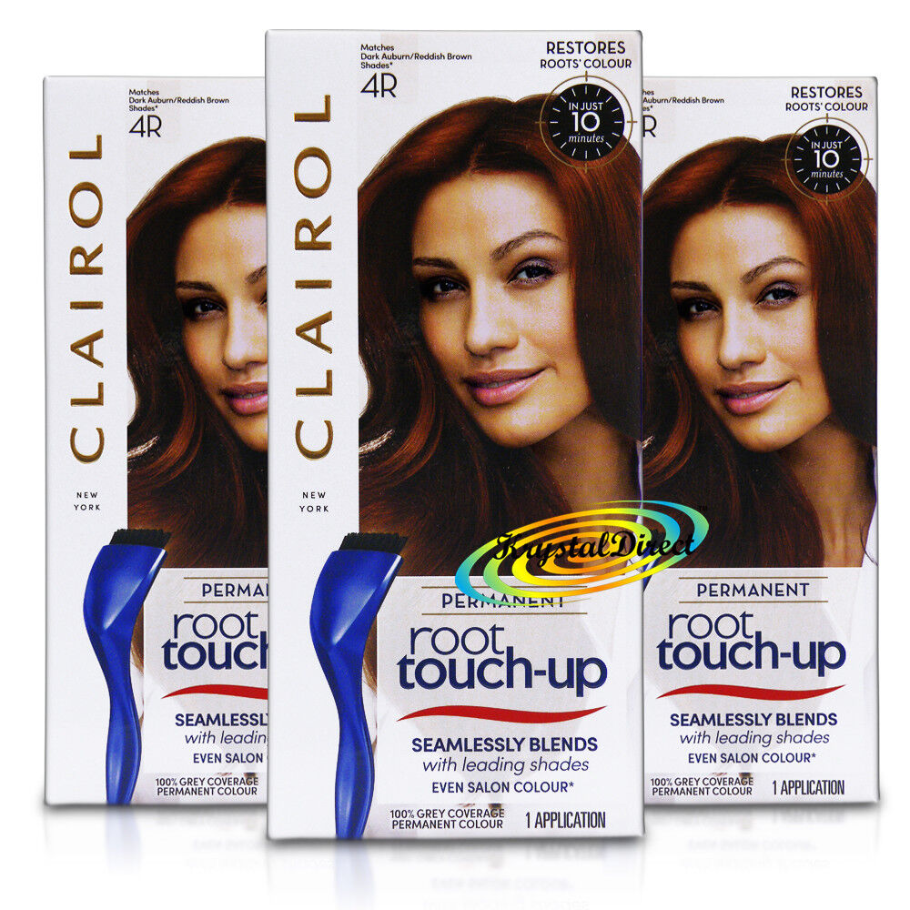 X Clairol Nice N Easy Root Touch Up DARK AUBURN R Permanent - Hair colour just for roots