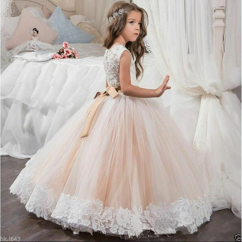 Wedding Flower Girl Dress Party Prom Princess Pageant ...