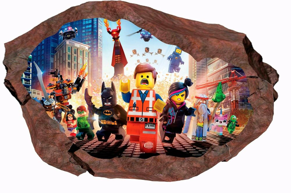 Lego Movie Smashed Wall 3d Decal Graphic Wall Sticker