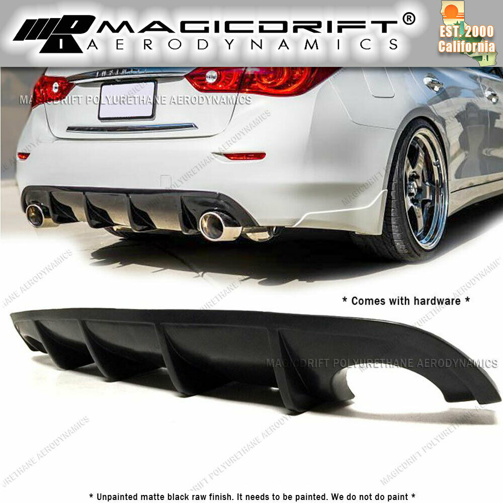 For 14 16 Infiniti Q50 St Jdm Style Rear Bumper Lip
