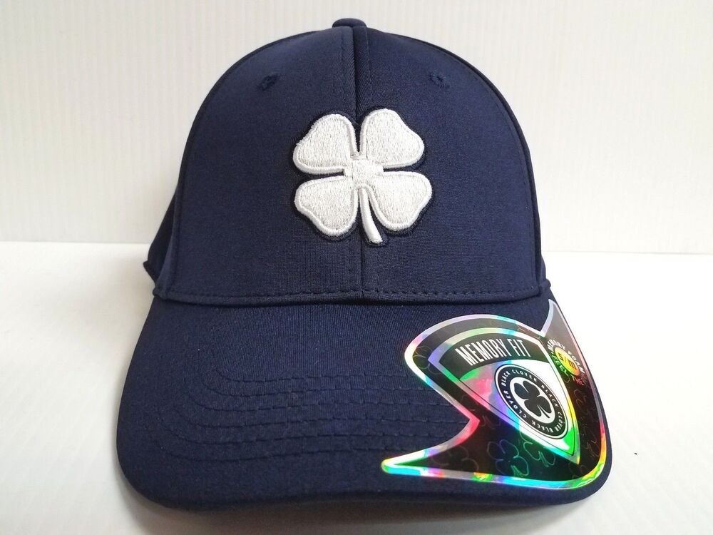 Details about Black Clover Cap Lucky Heather Navy Blue Stretch Fit Golf Hat  Live Lucky d0cbc8a9988