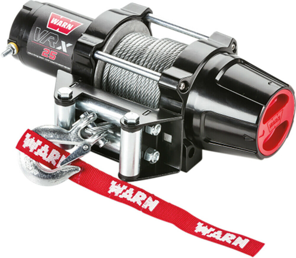Warn Vrx 25 2500 12v Winch Wire Rope Offroad Atv Utv Sxs 4