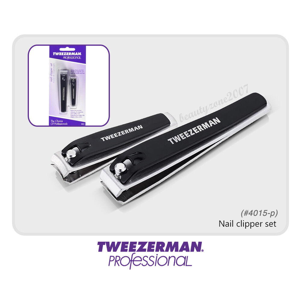 tweezerman 4015 p stainless steel nail clipper set for finger nail toe nail ebay. Black Bedroom Furniture Sets. Home Design Ideas