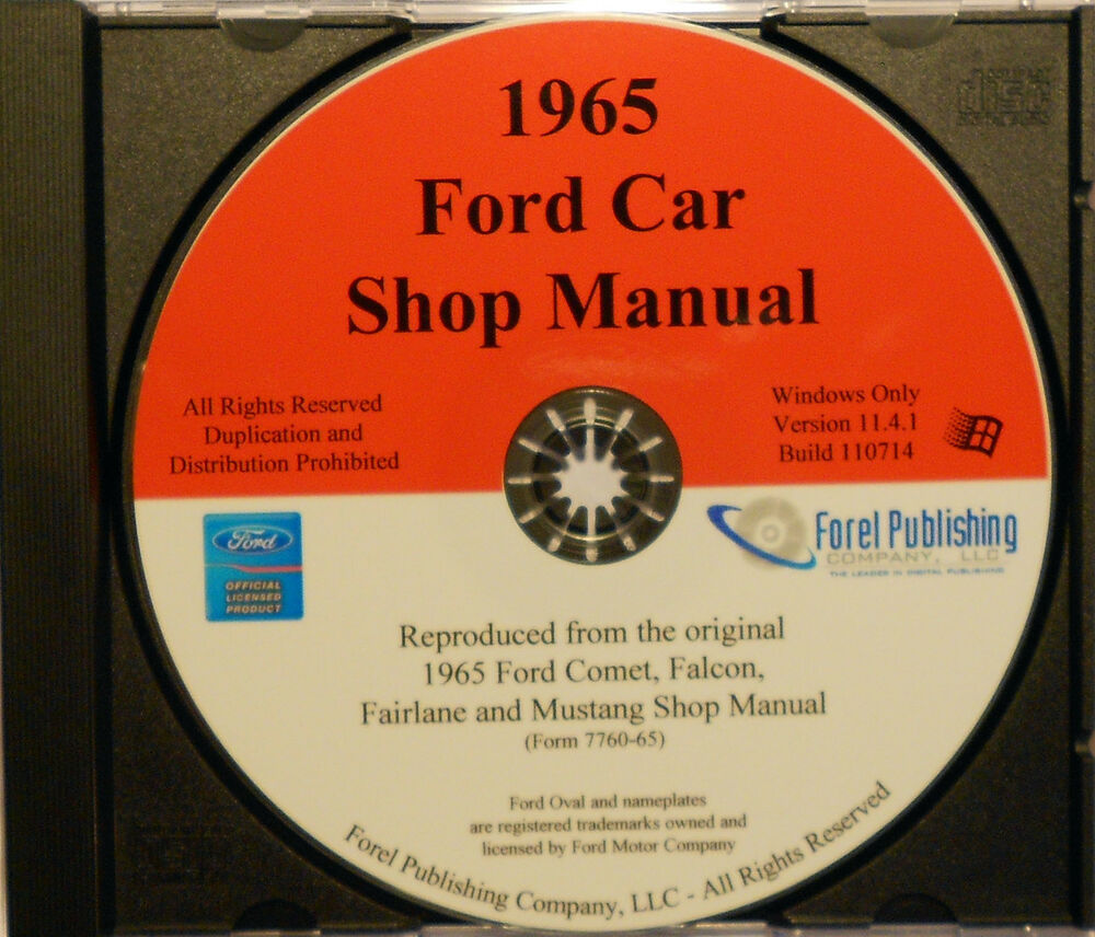 Details about 1965 ford mustang fairlane falcon mercury comet cyclone meteor shop manual cd