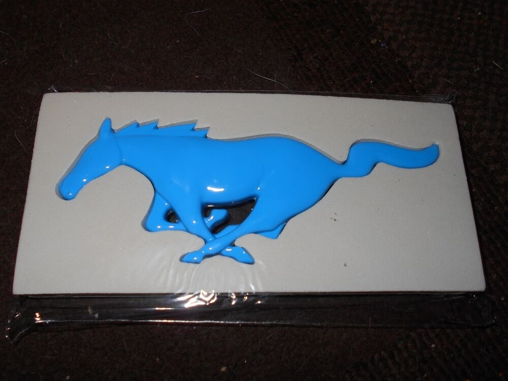 Ford Truck Accessories >> FORD MUSTANG RUNNING HORSE GRILLE FENDER DASH TOOL BOX DISPLAY EMBLEM LIGHT BLUE | eBay