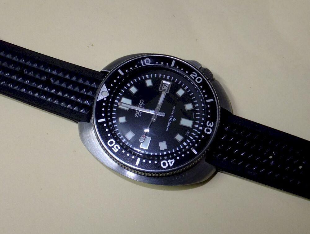 Vintage seiko divers 6105 8110 hack setting automatic all original serviced ebay - Seiko dive watch history ...