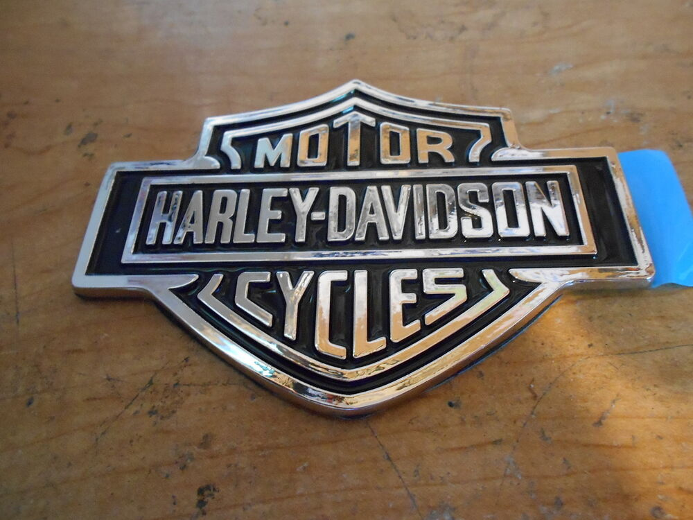 Harley Davidson Emblem: HARLEY DAVIDSON HARLEY-DAVIDSON MOTOR CYCLES FORD CHROME