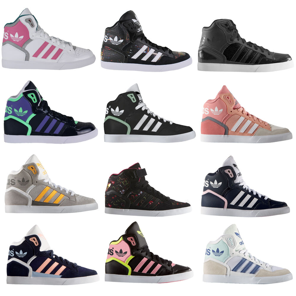 adidas originals extaball damen high sneaker turnschuhe freizeitschuhe neu ebay. Black Bedroom Furniture Sets. Home Design Ideas