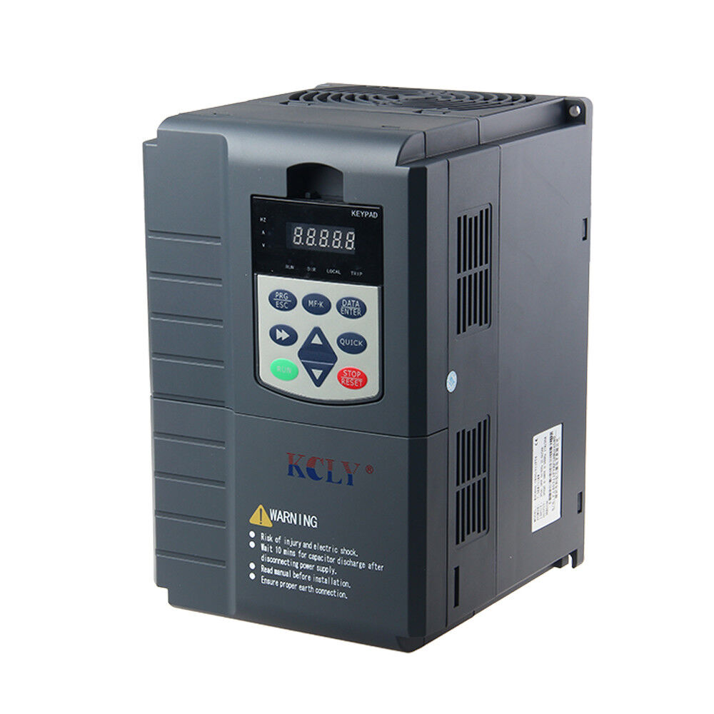 3 phase 380 440vac 13a 5 5kw 7 5hp inverter control for Single phase motor inverter