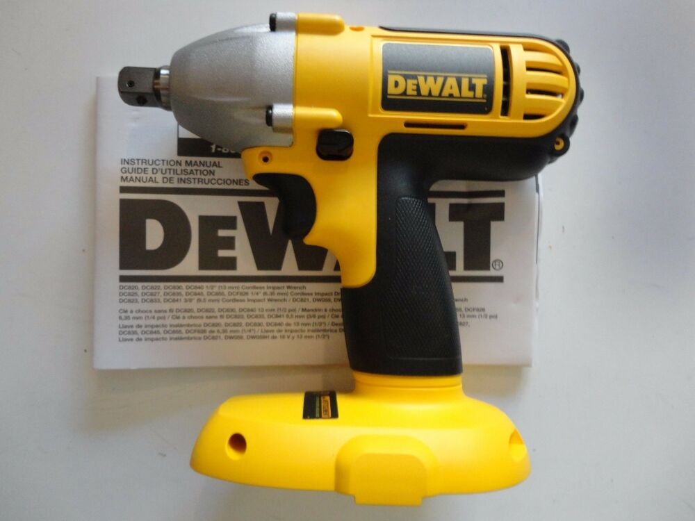 dewalt dc821b 18v 18 volt xrp 1 2 cordless impact wrench. Black Bedroom Furniture Sets. Home Design Ideas