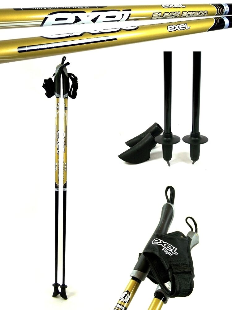 nordic walking st cke exel black poison gold carbon 105. Black Bedroom Furniture Sets. Home Design Ideas