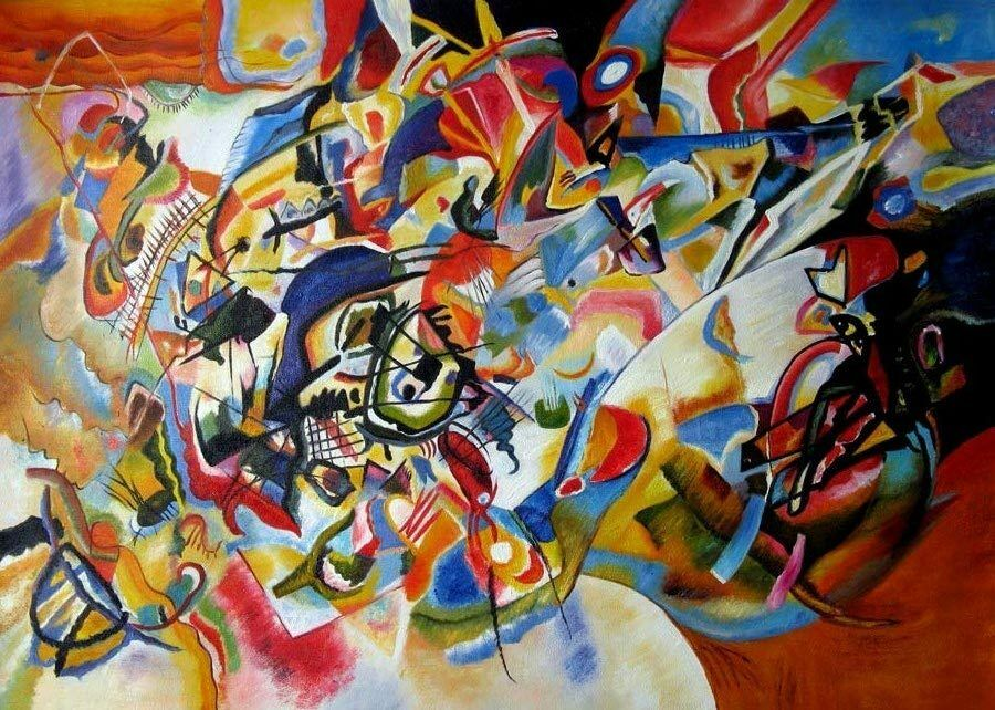 Wassily Kandinsky Abstract Oil Painting repro Composition ...