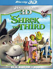 Shrek the Third BLU RAY 3D/BLU RAY VERSION/DVD NEW! FUN FAMILY MOVIE! DREAMWORKS